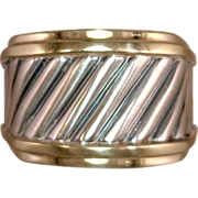 Kathy Bates Estate David Yurman Cable Ring SS 14 karat gold