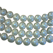 Pearl Rope Necklace 72 Inches Long with 200 White 8 Millimeters Near Round Cultured Freshwater