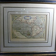 REDUCED Map: Theatrum Orbis Terrarum 1601