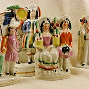 REDUCED Four Staffordshire Figures