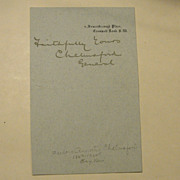 Autograph of Lord Chelmsford, Zulu War General