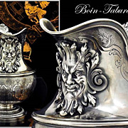 SOLD Boin-Taburet: Spectacular Antique French Sterling Silver Cream Jug Mascarons!