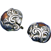 REDUCED Los Castillo design Fish Sterling Silver Copper Mexico Mexican Earrings