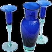 Holmegaard Anja Kjaer Royal Copenhagen Vase & Candlesticks Prized Color