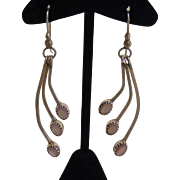 Lovely Native American Sterling Silver & Pink Mother of Pearl Earrings