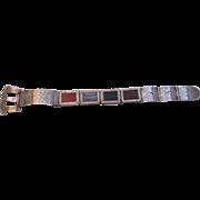 Fabulous Scottish Sterling Pebble Buckle Bracelet