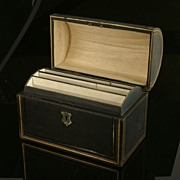 SOLD Domed Top Antique Leather Stationery Box