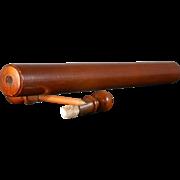 Antique Mahogany Rolling Ruler