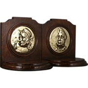 SOLD Antique Oak Bookends