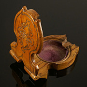 SOLD Attractive Olive Wood  Watch Stand