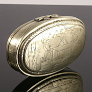 Fine Quality  Early Dutch Brass Tobacco Box