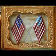 Antique Patriotic dollhouse picture