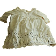 Lovely antique linen lace doll dress