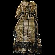 SALE Antique silk French fashion dress