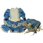 SALE Adorable small vintage dress & bonnet
