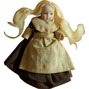 Antique penny doll German bisque