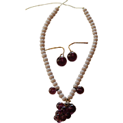 Charming glass grape doll jewelry