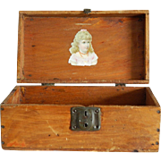 "10"" antique French fashion doll trunk"