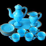 Cute miniature vintage plastic tea set