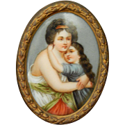 Antique dollhouse portrait miniature