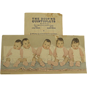 SALE 1935 Dionne quintuplets memorabilia
