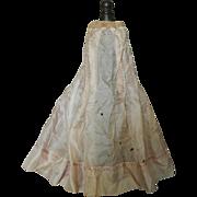 SALE Pink silk French fashion doll slip