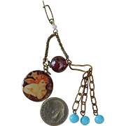 SALE Unique watch chatelaine pin for doll