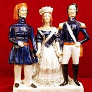 "SOLD Antique Staffordshire Figurine, ""Crimean War"" Turkey England France"
