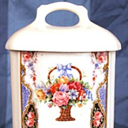 SOLD Vintage 1940's Czech. Porcelain Cafe Canister