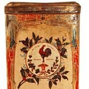 "SOLD Vintage French Coffee Tin ""Societe Francois Preve Cafe"""