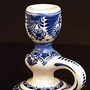SOLD Vintage Delft Candlestick