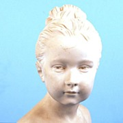 SOLD French Sevres Porcelain Bisque Bust (after Houdon) of Louise Brongniart
