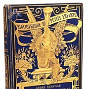 "SOLD Antique French Book, ""Bibliotheque des Petits Enfants (La Fete de Saint-Maurice)"""