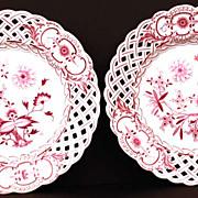 SOLD Pair of  Meissen Porcelain Plates