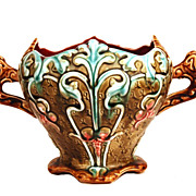 Antique French Majolica Cache Pot