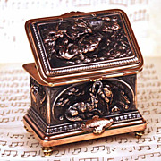 SOLD Antique French Cast Copper/Metal Trinket Box