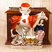 SOLD Antique Nineteenth Century Staffordshire Figural Spill Vase