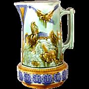 Antique Mouzin Lecat Majolica Pichet/Pitcher