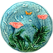 Antique Nineteenth Century French Majolica Plate