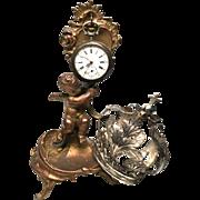 Antique Nineteenth Century Gilded Bronze/Metal Porte Montre Vide Poche Watch Holder