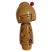 Vintage Japanese Dento Kokeshi Doll Artist Signed