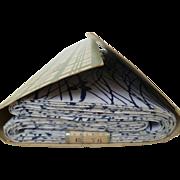 SOLD 1960's Japanese Cotton Yukata Kimono Fabric Bolt in Original Packaging