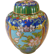 Vintage Chinese Cloisonné Small Ginger Jar Pot