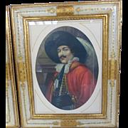Vintage Ornate Italian Florentine Framed Prints Pair