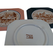 Syracuse China O.P.Co. Plates - Historic American Scenes
