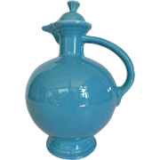 Early Turquoise Blue Fiesta Carafe with Cork Seal Lid