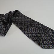 Vintage Ricardo Benetti Italian Silk Necktie 62 Inches
