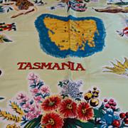 Vintage Tasmania Souvenir Scarf