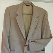 "Vintage LANVIN Sport Jacket Coat Scotland Camel Hair Paris New York 44"""