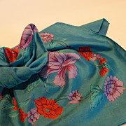 Vintage Thai Silk Scarf